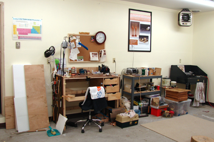 One Wall of my Studio (yes Tamra, that is the Periodic Table on the wall)