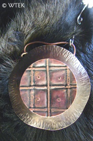 Medallion #3, nickel & copper (that's my dog's hairy chest!)