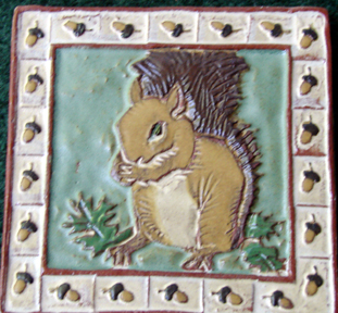 Squirrel Tile from Red Clay Tile Works ( I bought this one myself)