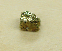 This pyrite is about the size of my pinky nail