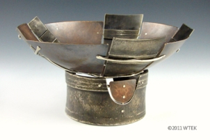 Memory & Shadow ©2011 bronze, nickel - This bowl has been judged and passed the test.