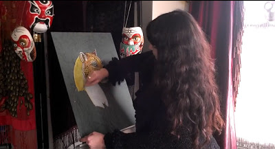 Lynnette working on Jangala