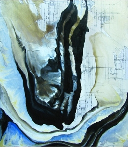 Coordinates #20 ©2011 Chris McGinnis oil, acrylic, graphite, collage on paper