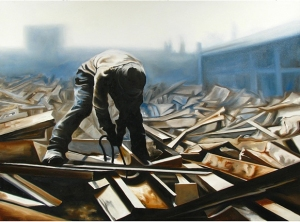"Salvage ©2012 Chris McGinnis oil on canvas 36"" x 48"""