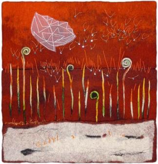 "Firefly Field © Erma Martin Yost 23"" x 22"""