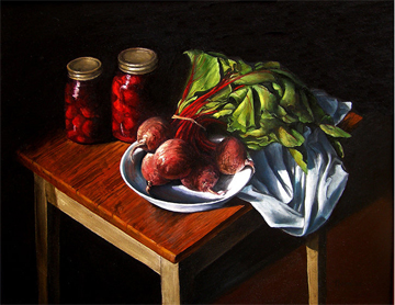 "Summer in a Jar ©2007 Naomi Ilgenfritz oil on panel 16"" x 20"""