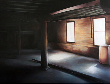"Untitled Space ©2011 Naomi Ilgenfritz oil on panel 48"" x 60"""