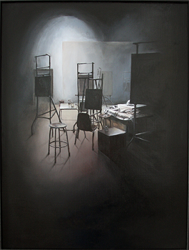 "Work Space IX ©2012 Naomi Ilgenfritz oil on panel 24"" x 32"""