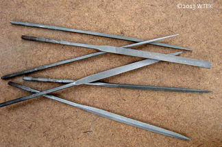 Needle Files - These are about the length of a pen.