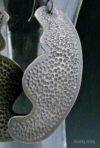 Pebble Moon Earrings ©2013 WTEK sterling silver