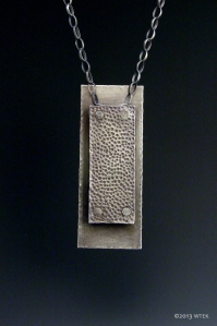 Pebble Pendant ©2013 sterling silver, brass