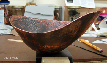 The newest incarnation of that copper piece. ©2013 WTEK