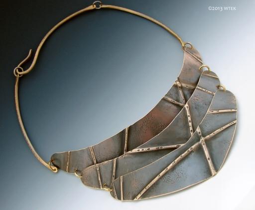 Brass Cresent Necklace ©2013