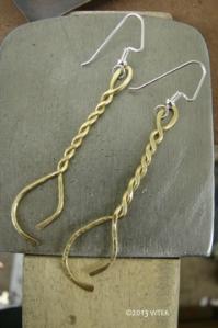 Twisted Brass Earrings ©2013 WTEK