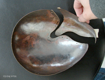 Cut out portion of the bowl.