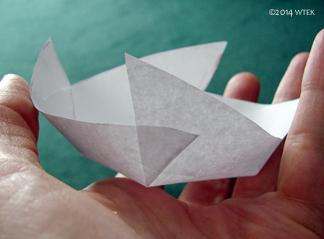 The folded up model original size.