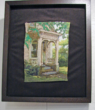 Embroidery piece by Joanne Bast - You can only tell this is thread when you get close