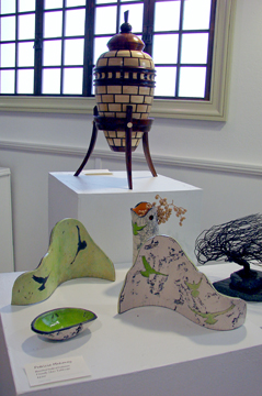 Work by Al Fox and Patricia Mahoney who were at the opening in March