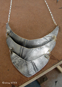 This necklace has an armor-y feel ©2014 WTEK sterling silver