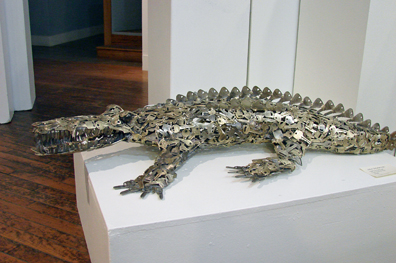 Gator From the Keys by John Sokolovich - This is made from welded car keys!