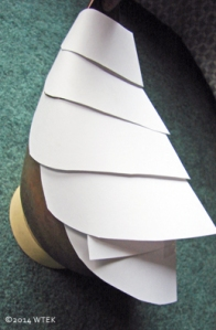 Example of paper patterns on the copper base structure.