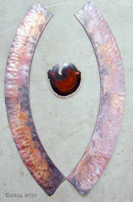 The red agate just isn't the right size for this project, unfortunately