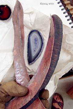 The curved and helix-ed pices with the lavender agate ©2014 WTEK