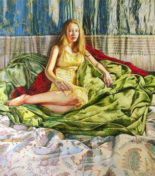 "Girl In The Yellow Dress ©2013 Eleanor Day, 36""x27"""