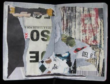 Page from her Mexico Journal when she spent a month there last year. ©2013 Mimi Shapiro, Mixed Media
