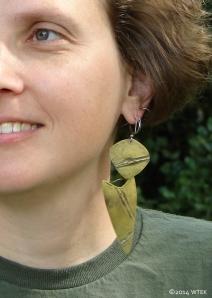 Brass earrings worn ©2014
