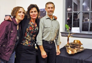 The Alchemists - Wendy Edsall-Kerwin, Christine Goldbeck and Don Kensinger with our piece, Elemental.