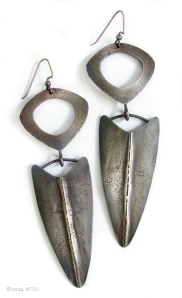 Silver SPear Earrings ©2014 WTEK sterling silver - These will be at FIFC