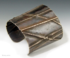 Foldformed Bamboo Cuff ©2014 WTEK brass