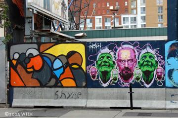 rue Sainte-Catherine graffiti panel 2