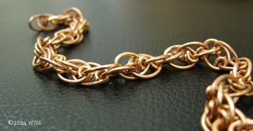 My chain attempt ©2014 WTEK This was done in 18g brass