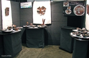 Look at my pretty new booth set-up! I got compliments on this as well as my art!