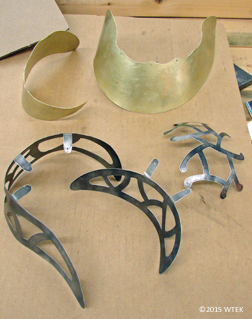 The parts waiting to be riveted ©2015 WTEK brass, nickel