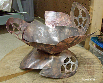 4 leaves on! Reap the Whirlwind ©2015 WTEK brass, copper