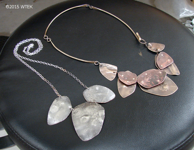 Two almost done necklaces ©2015 WTEK