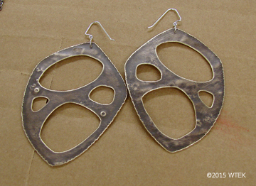 """These are about 2.5"""" high plus the earwires ©2015 WTEK brass, sterling earwires"""