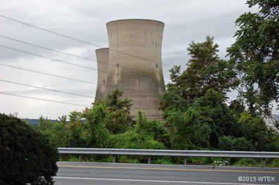The cooling towers for the now unused Reactor 2 ©2015 WTEK