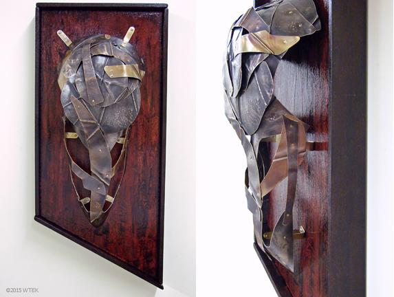 Scavenger ©2015 WTEK nickel, brass, painted wood 18.75