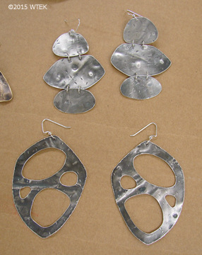 Two pairs of sterling silver earrings ©2015 WTEK