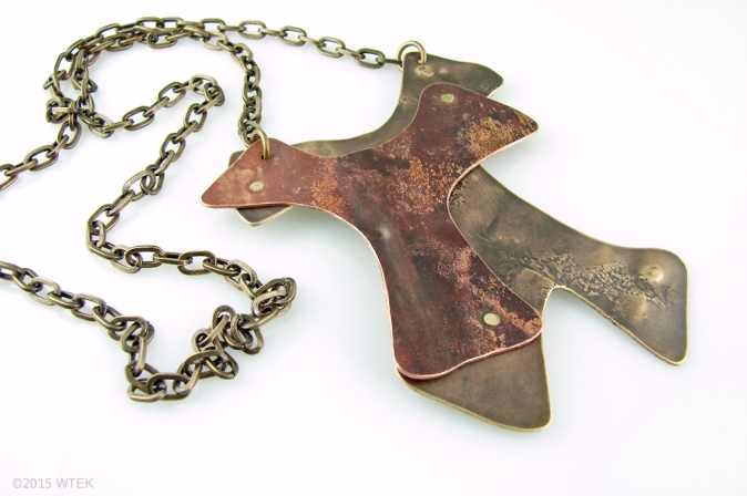 Untitled Necklace ©2015 WTEK brass, copper