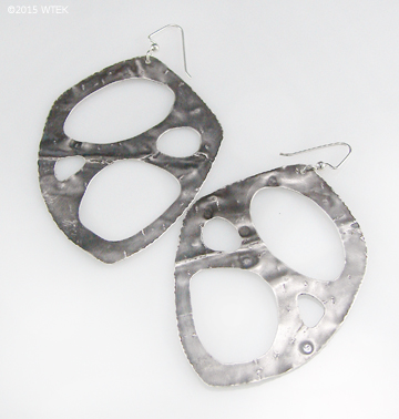 Large Net Earrings ©2015 WTEK sterling silver