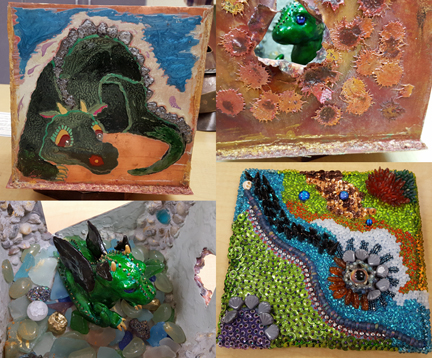 Shots of Connie Hollenbaugh's Dragon Cave