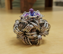 Chain maille Marble Box by Leslie Halaby-Moore